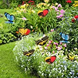 50pcs Garden Butterflies Stakes Colourful Garden Ornaments Multicolour for Outdoor Plant Yard Patio Party Halloween Christmas Decorations