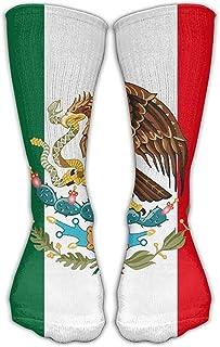 ulxjll, Calcetines Deportivos Vestido De Tobillo De La Novedad De La Bandera De México Se Adapta Al Zapato Niños Rodilla Niñas Calcetines Largos Transpirables Viajes Medias Divertidas Personalizadas 50
