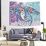 N/ A Flores abstractas atrapasueños Tapiz habitación decoración del Dormitorio Tapiz Tela de Fondo Personalizada (150 * 130 cm de Franela Gruesa)
