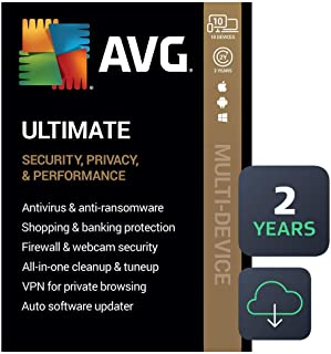 AVG Ultimate 2020 | Antivirus+Cleaner+VPN | 10 Devices, 2 Years [PC/Mac/Mobile Download]