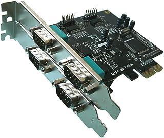 © KALEA-INFORMATIQUE-Tarjeta controladora PCI EXPRESS PCI-E) (4 puertos de SERIE RS-232 conectores DB machos, y