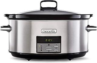 Crock-Pot CSC063X Olla de cocción lenta digital, 7.5 litros, Acero inoxidable