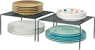 mDesign Modern Metal Square Kitchen Cabinet, Pantry, Countertop Organizer Storage Shelves for Kitchen Cabinets, Countertop...