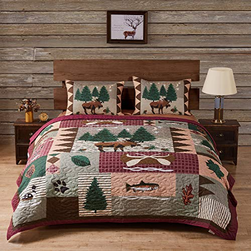 Greenland Home Moose Lodge Quilted Bedding Set