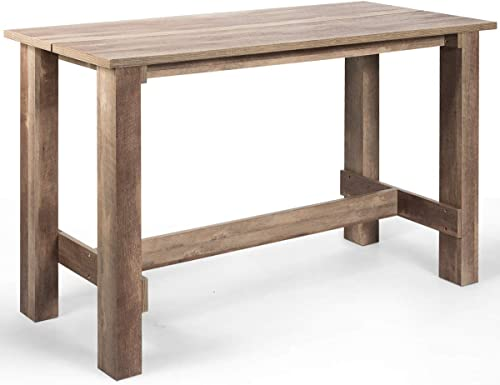 """lowest Giantex discount Counter Height Dining Table, 55""""L x25.5""""W x35.5""""H Rectangular Counter Table, Multifunctional Table for Dining high quality Room, Kitchen, Bar, Pub, Bistro online sale"""