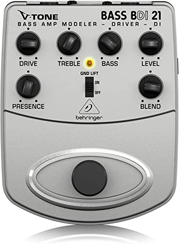 Behringer V-Tone Bass Driver / DI BDI21 Modéliseur d'ampli pour basse acoustique / préampli pour l'enregistrement dir...