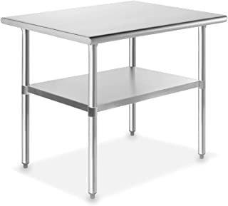 GRIDMANN NSF Stainless Steel Commercial Kitchen Prep & Work Table - 36 in. x 24 in.
