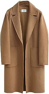 neveraway Women's Overcoat Jackets Premium Wool Blended Mid Long Classy Pea Coat