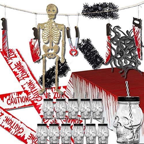 SSITG Halloween Lot DE 12 Verres décoratifs, Accessoires de décoration de Squelette