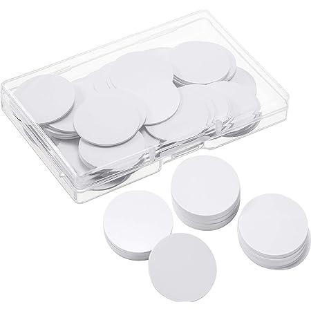 Outus Lot de 10 Cartes NFC 215 Vierges réinscriptibles en Forme de pièce de 25 mm