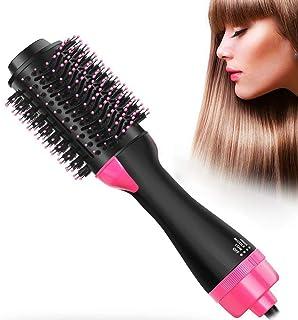Hair Dryer Brush and Hot Air Brush, Air Hair Brush 3 in 1 Electric One Step Hair Dryer Volumizer with Negative Ion Curling Dryer Brush, Straightening Brush, Dryer Styler,Black