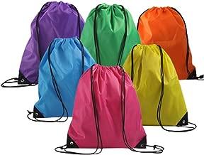 LIHI BAG 6 Pack Ripstop Party Favors Drawstring Backpack Birthday Goody Gift Bags