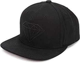 Diamond Supply Co. Blackout Black 6 Panel Snapback Hat CLIPBACK