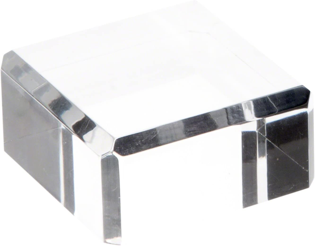 Plymor Clear Polished Acrylic Square Beveled Display 1