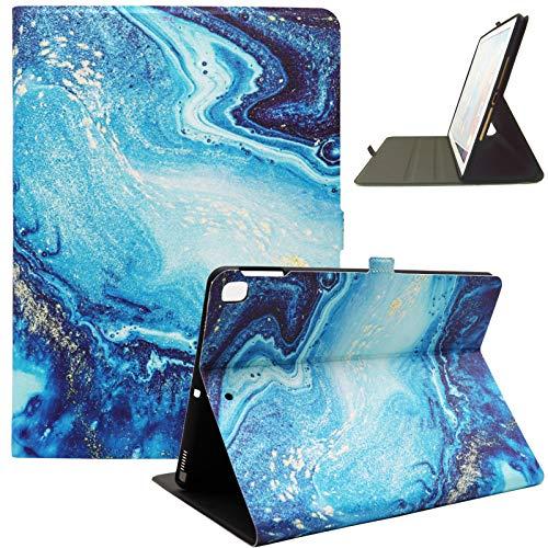Bbjjkkz iPad 10.2 Case for Kids Girls Women, iPad 8th Generation 2020 Case, iPad 7th Generation 2019 Case, iPad Air 3 10.5 2019 Case, Ultra Slim Multi-angle Stand Leather Cute Case, Green Marble