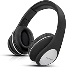 Over Ear Headphones, Wireless Stereo Bluetooth Headset with Deep Bass, Foldable and Lightweight, Wired and Wireless Two Modes for Cell Phone, TV, PC and Traveling by Jpodream - Black