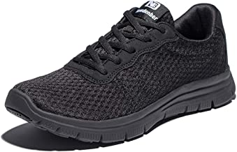 Anbenser Mens Lightweight Walking Shoes Size 7-16 Running Shoe Removable Sockliner Arch Support Outdoor Athletic