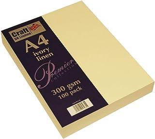 Craft UK Karte A4 ivory weiß, Leinen glatt 100 bis 500 Blatt, 300 gsm (3 Packungen Elfenbein Leinen) B07FSSPFKW  Vollständige Palette von Spezifikationen