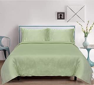 LINENWALAS Bamboo Sheets Twin XL - Softest and Thermal Regulating Sheets - Bed Sheet Set - 100% Natural Bamboo (Twin XL, Mint Green)
