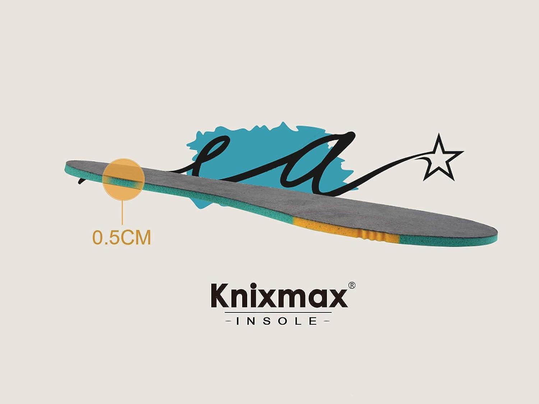 uso Diario y Deportivas 28-35 EU Transpirables Ligeras Plantillas de Reemplazo Knixmax 2 Pares Plantillas de Espuma Confortables para Ni/ñas y Ni/ños