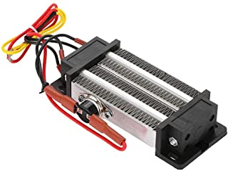 DEWIN Calentador eléctrico de cerámica de 300W con termostato PTC y Elemento Calefactor de Aire Aislado
