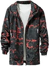 Men's Camouflage Jacket Coat Casual Simple Comfortable Cap Jacket Pocket Hoodie