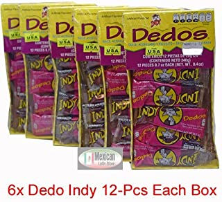6x Dedo Indy Spycy And Sour Candy 12-pcs each box Total of 72-