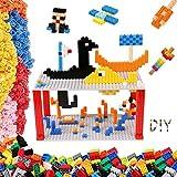 burgkidz Bloques de Construcción Juego de 1750 Piezas, Que Incluye 1020 Ladrillos Clásicos, 728 Mini Ladrillos y 2 Placas Base, Juguetes Creativos en 3D para Niños Edad 5 6 7 8 9 10 Años
