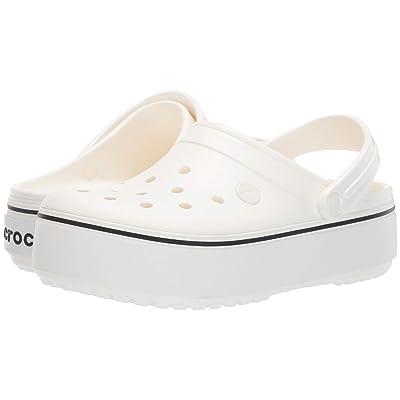 Crocs Crocband Platform Clog (White/White) Shoes