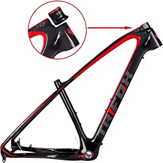 TRIFOX 3K Carbon Fiber Mountain Bike Frame 27.5/29-Inch Glossy T800 Ultralight MTB Frame+Seat Clamp+Headset