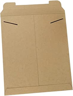 Stayflats Mailers   Reusable Rigid Shipping Envelopes   Repurpose Easy Packaging With Tab Lock Closure   Built-In Corner Protection   Stays Flat During Delivery   Kraft   100 Per Case   12-3/4