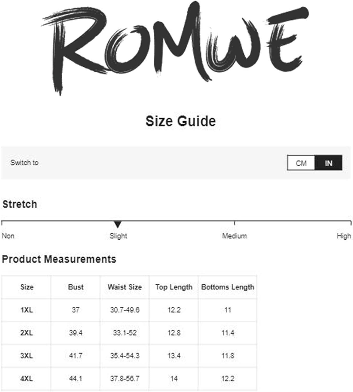 Romwe Women's Plus Size 2 Piece Floral Lace Lingerie Mesh Wireless Bra and Panty Set Sleepwear