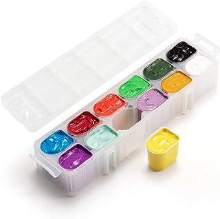 Gouache Paint, 12 Colors x 30ml Frunsi Unique Jelly Cup Design Opaque Gouache Watercolor Paints for Kids, Beginners, Artis...