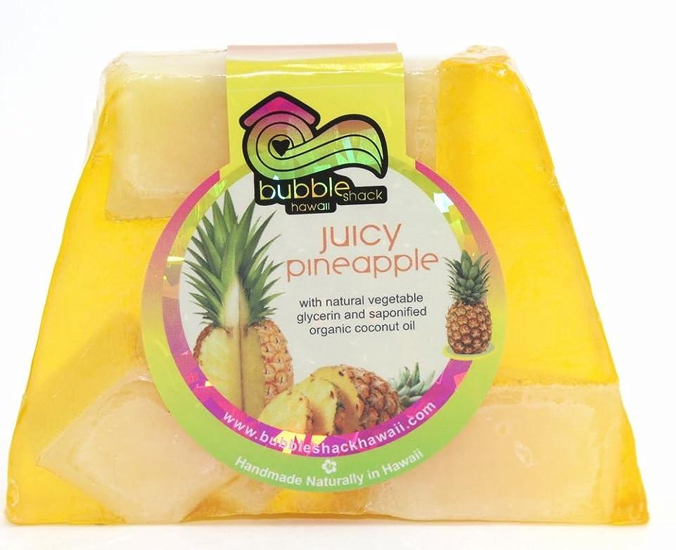 最終有彩色の花弁ハワイ お土産 ハワイアン雑貨 バブルシャック パイナップル チャンクソープ 石鹸 (パイナップル) ハワイ雑貨