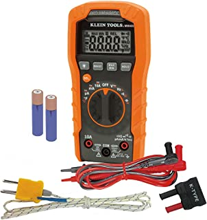 Klein Tools MM400 Digital Auto-Ranging Multimeter: Temperature, Capacitance, Frequency, Duty-Cycle, Diodes and Continuity, 600V