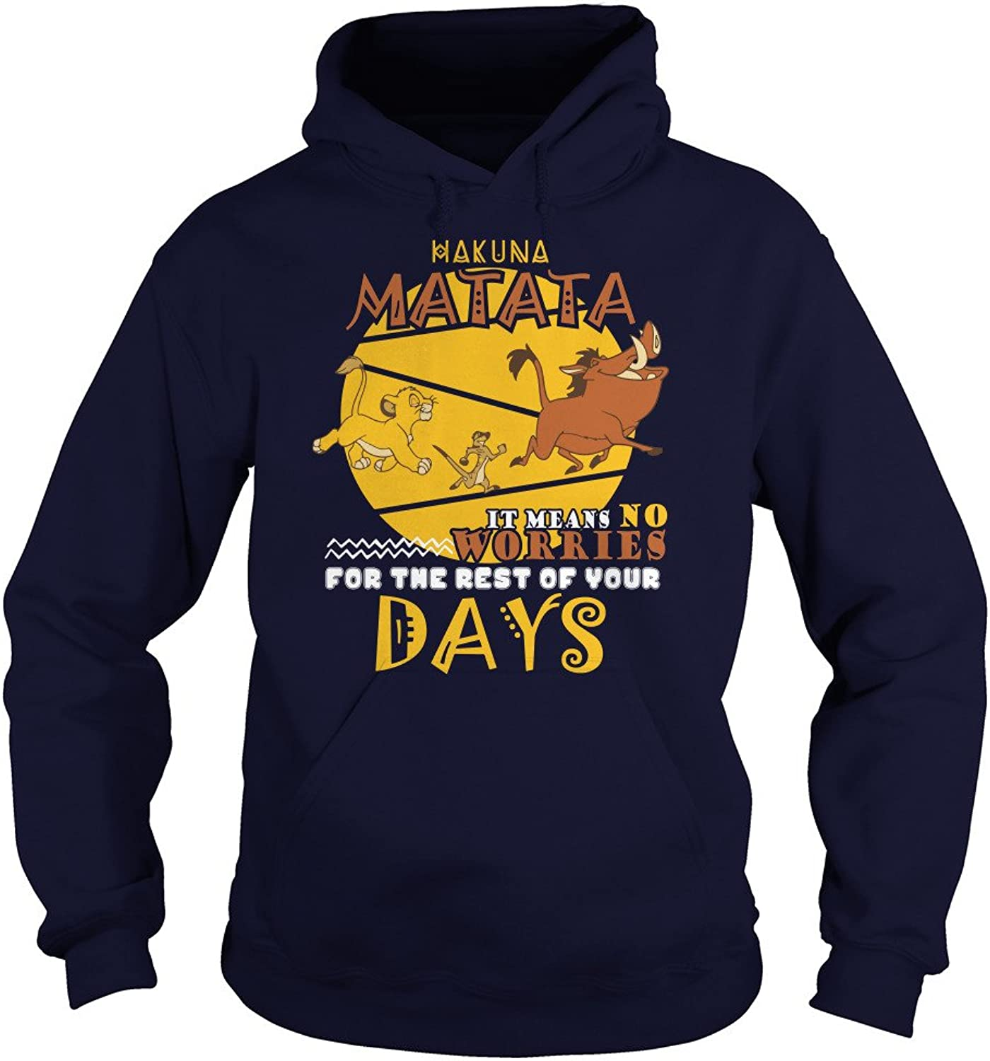 Hakuna Matata It Means No Worries for The Rest of Your Days T-Shirt