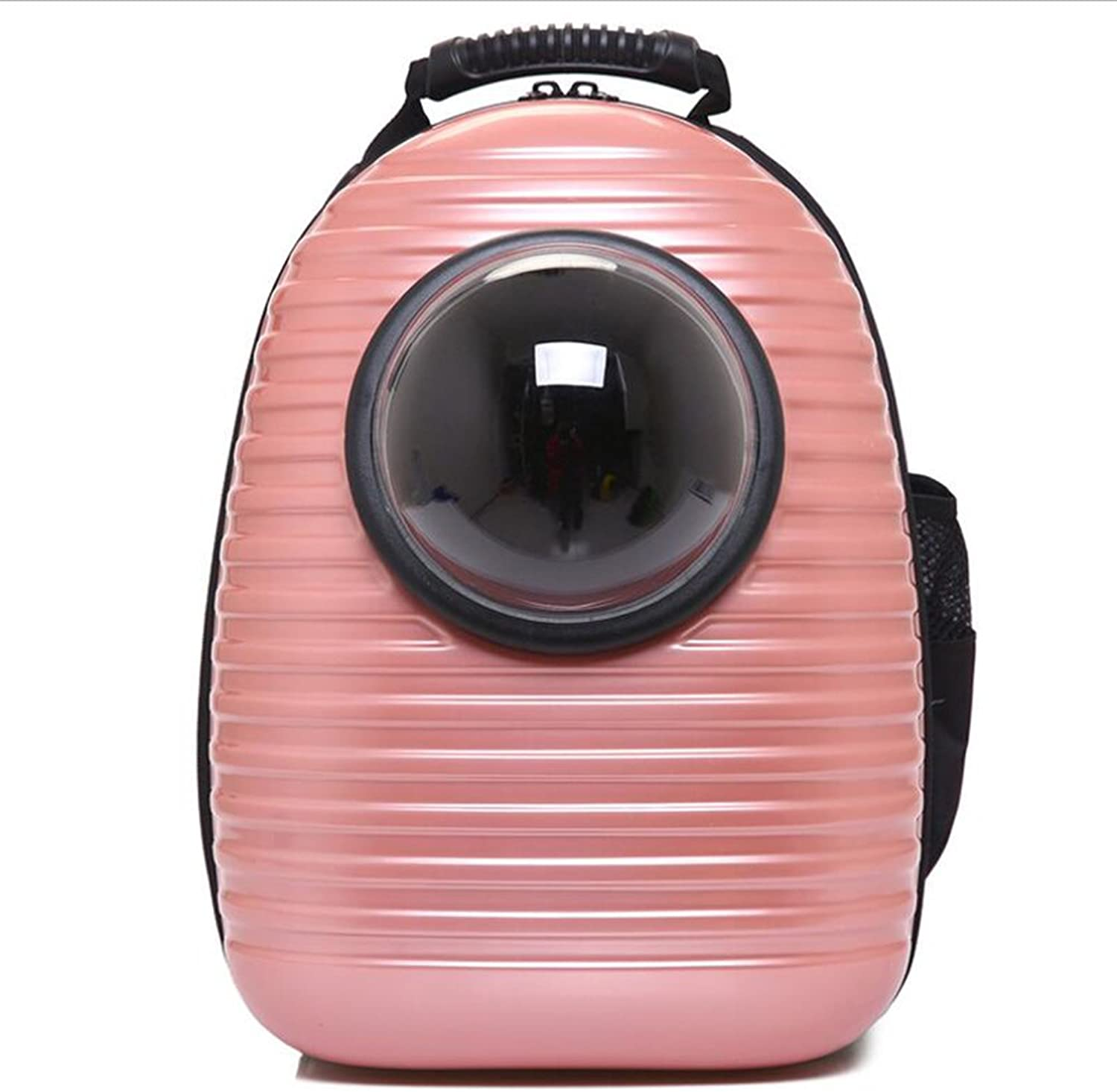 Fashion Portable Pet Backpack, Small Dog Capsule Cat Dog Chest Bag,Pink