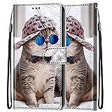 LEMORRY Coque pour Nokia 2.4 Etui Housse Peint en Cuir, Ultra-Mince Fonction Stand avec Carte Fente...