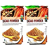 Volupta Organic & Fair Trade Unsweetened Super Food Cacao Powder - Pack of 2 Bags - 64 oz Total - Bulk Gluten Free Cacao Powder - Vegan, Non GMO, and Low Fat - Comes in Resealable Bags