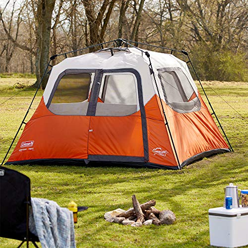 Coleman New Outdoor Camping Waterproof 6 Person Instant Tent - 10'x9' Foootprint