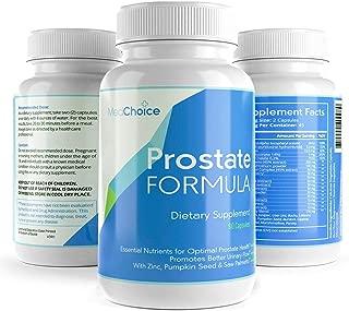 Med Choice Optimum Prostate Formula, Suplementos de próstata para hombres, Cápsulas de gelatina blanda de soporte de próstata (90 unidades), Suplemento de próstata Saw Palmetto mejorado para un mejor flujo urinario y crecimiento del cabello