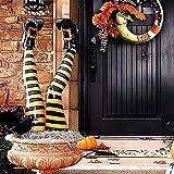 RYKJ-F Decoración De Piernas De Bruja De Halloween para Jardín, Patas De Bruja Al Revés con Zapatos Rojos Estacas De Bruja para Exteriores Rompe Tumbas Estacas De Bruja para Macetas,Amarillo