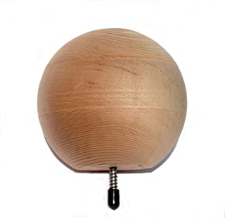 and Patio Railings Woodway Finial Cedar Wood Ball with Lag Bolt for Fence Posts 4.5 Inch Diameter Pack of 9 Deck