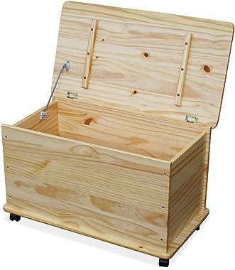 KMH®, Boîte à jouets sur roulettes en pin massif (# 800068)