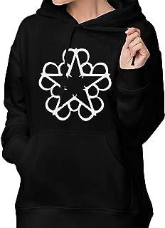 Black Veil Brides Star Logo Pullover Hooded Sweatshirt with Pocket for Women Black