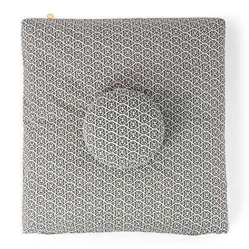 Lotuscrafts Tapis De Méditation Zabuton Deluxe - Coussin de Support pour la Méditation - Housse en Coton Lavable - Tapis Coussin Meditation - Meditation Mat [85 x 80 cm] - Certifié GOTS