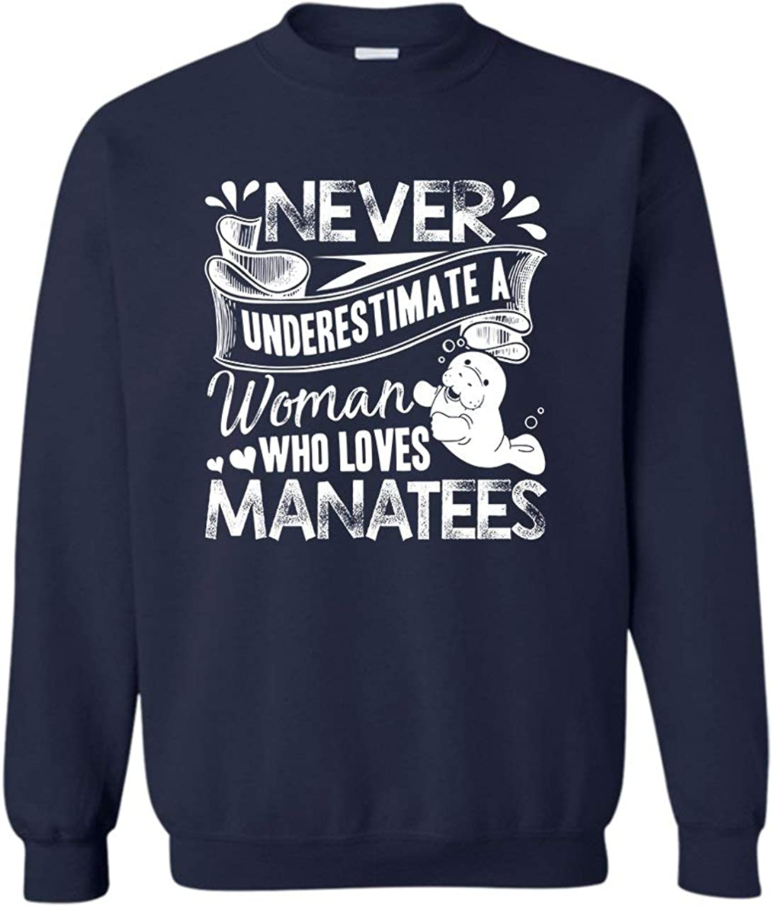 A Austin Mall Woman Who Loves Manatees T Pullover Sweatshirt Shirt Crewneck NEW before selling ☆