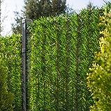 FairyTrees Revêtement de Clôture GreenFences, Haie Artificielle, Brins à Monter, Couleur: Vert Clair, Hauteur 120cm, 5m