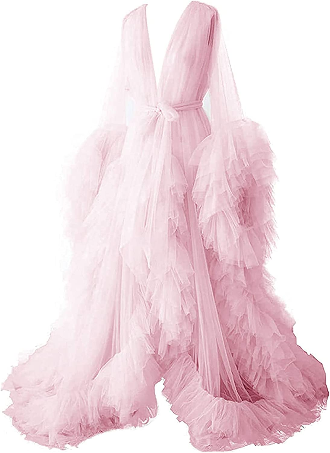Women's Tulle Max 42% OFF Robe Shoot Wearing a See-Through of Selling rankings Lon