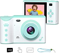 Kids Camera, ieGeek Kids Digital Camera, 2.8 Inches Front and Rear Dual Camera 8.0MP, 1080P HD Camera for Kids, USB Rechargeable with 32GB SD Card Storage Kids Gift for 3-12 Years Old Boys and Girls